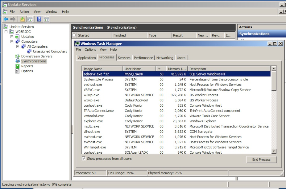 Troubleshooting WSUS errors from an SQL Server perspective