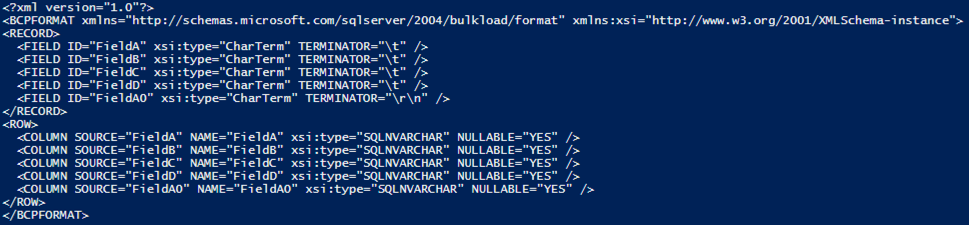 Using PowerShell to generate a bulk insert format file